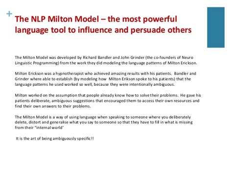 nlp patterns persuasion language of influence and persuasion introduction to the