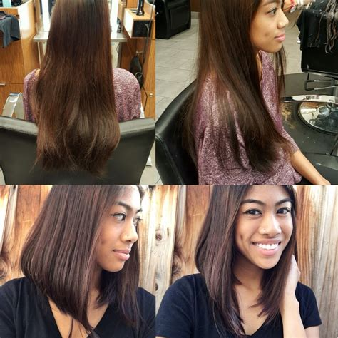 long a line hair cut long hairstyles before long thick hair after quot lob quot long bob a line