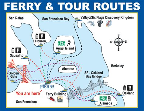 san francisco ferry map transportation guide blue and gold fleet ferry offmetro ca
