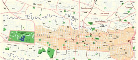 san jose neighborhood map san jose city sorroundings costa rica guides