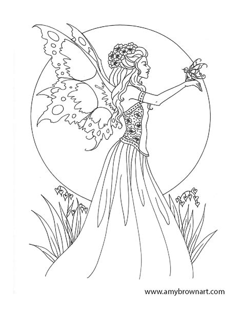 forest elf coloring pages free amy brown fairy coloring pages fairie coloring