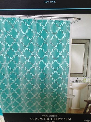 aqua and white curtains shower curtains fabric shower curtains and white fabrics