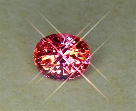 Orangy Pink Padparadscha Spinel 741 all that glitters gemstone photographs padparadscha