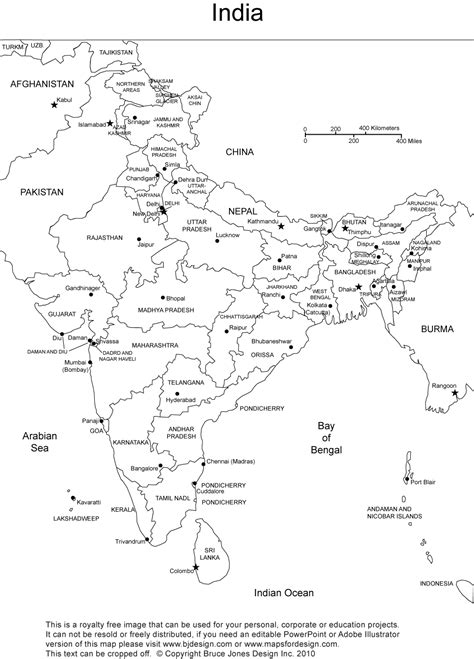 printable version of india map geography blog outlines maps india