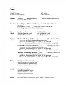 Word Templates For Resume by Curriculum Vitae Templates For Microsoft Word Free