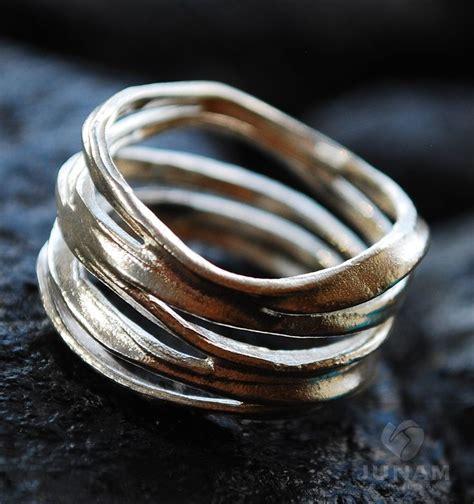 Silver Handmade Rings - silver ring unique loop design sterling silver handmade