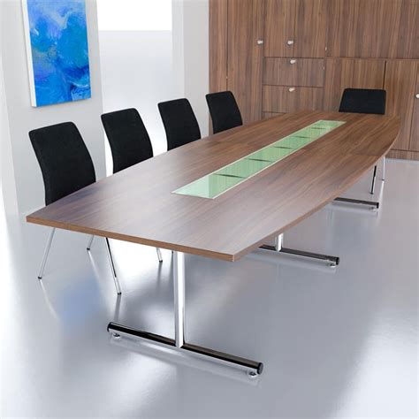 flexible meeting tables fusion executive furniture barrel shaped boardroom table on chrome t base in mfc