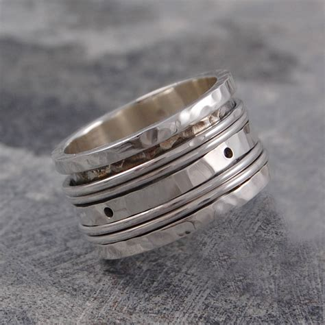sterling silver spinning band ring by otis jaxon silver