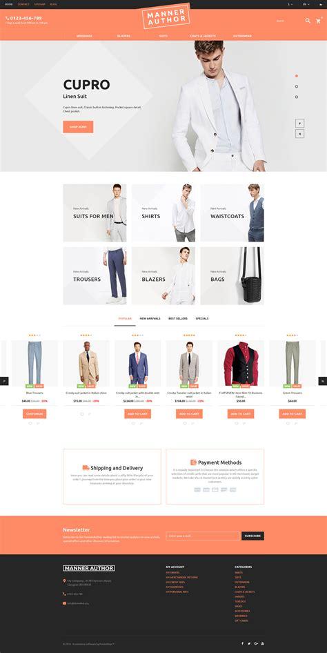 prestashop themes clothing mannerauthor mens clothing online prestashop theme