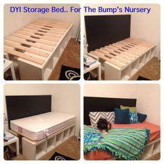 ikea kallax headboard corner unit twin storage bed and storage beds on pinterest