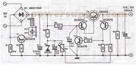 2n3055 alimentatore 2n3055 variable power supply
