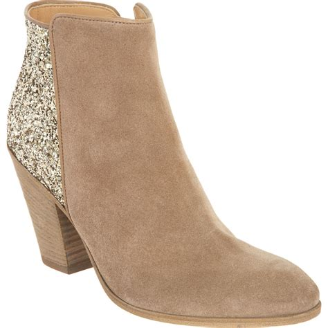 glitter ankle boots co op barneys new york glitter ankle boot