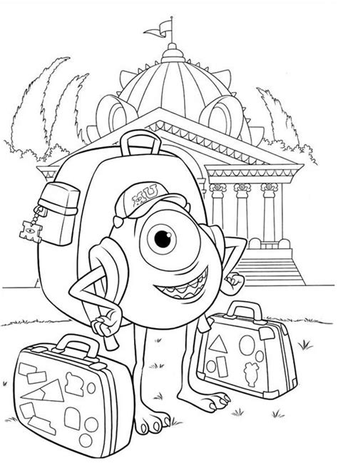 Monsters U Coloring Pages by Inc Coloring Pages Coloring Home