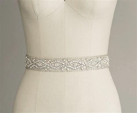 CATHERINE   Crystal Bridal Belt Sash   Rhinestone Wedding