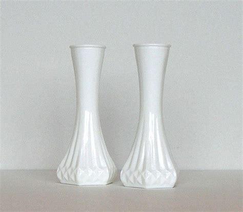 cij sale vintage hoosier milk glass bud vases opaque
