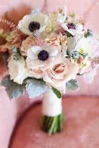 Dusty Miller Flower - beautiful bridal 10 romantic anemone bouquets