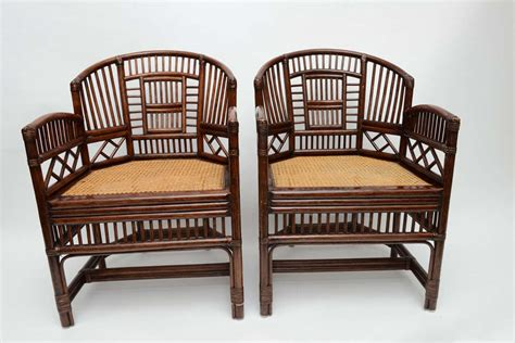 vintage wicker barrel chairs pair of vintage bamboo rattan barrel chairs image 2