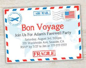 bon voyage invitation templates free travel farewell invitation bon voyage going