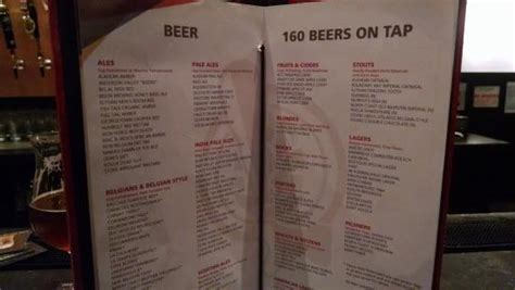 tap house menu beer menu picture of tap house grill seattle tripadvisor