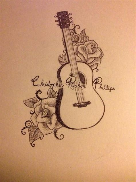 guitar with roses tattoo guitar and roses tattoos guitars