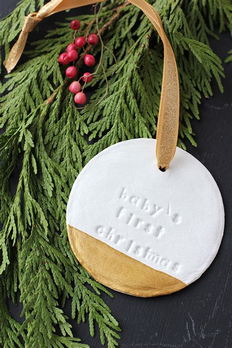 baby s first christmas ornament diy project nursery