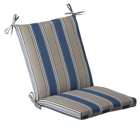 Blue/Tan Striped Outdoor Cushion Collection   Townhouse Linens