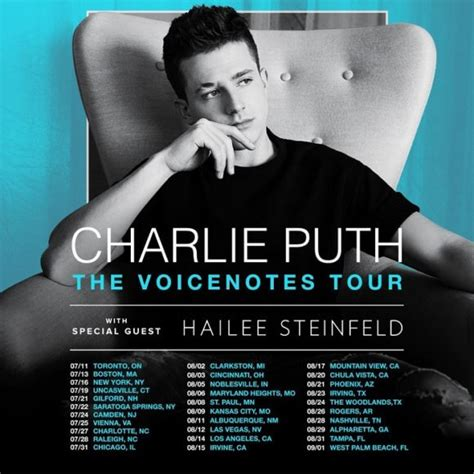 charlie puth tour 2017 charlie puth quot the voicenotes tour quot dates announced