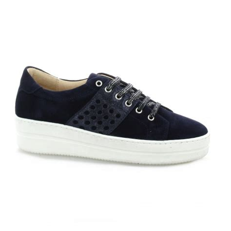 send baskets chaussures so send baskets cuir velours marine 8103