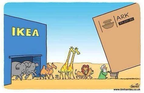 ikea puns how the ark was really built
