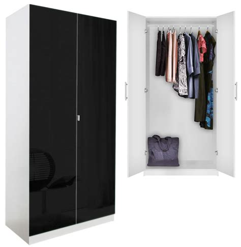 Free Standing Closet With Doors Alta Wardrobe Closet Free Standing Wardrobe With Doors Contempo Black Wardrobe Closet In Closet
