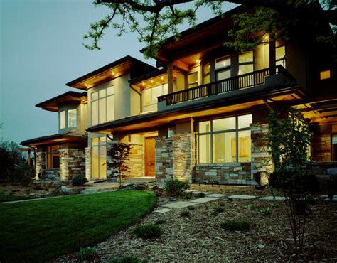 contemporary prairie style contemporary exterior