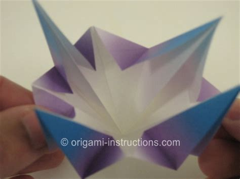 Origami Bell Flower - origami bell flower folding how to make an