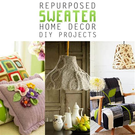 28 repurposed sweater home decor diy thrifty and