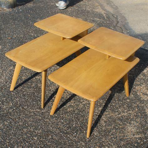 2 vintage heywood wakefield wheat step end table m308g ebay