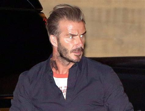 david beckham neck tattoo david beckham shows his new at restaurant