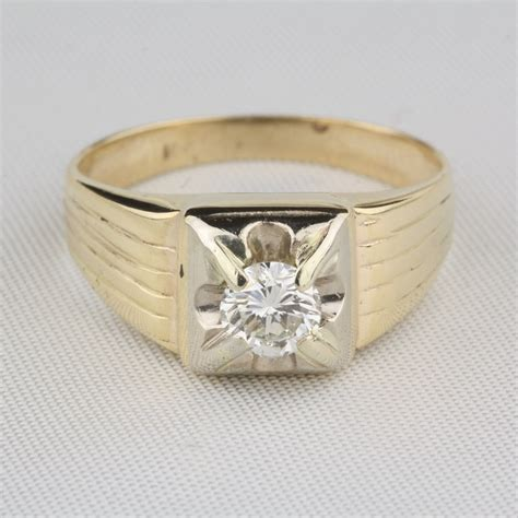 jewelry ring pre owned s vintage 60 carat solitaire ring