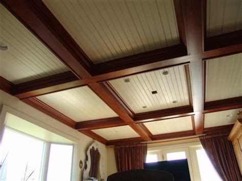 Stained Coffered Ceiling Coffered Ceiling By Richsoby Lumberjocks
