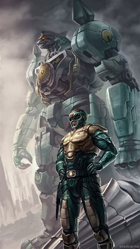 dragonzord tattoo green ranger and dragonzord from mighty morphin power