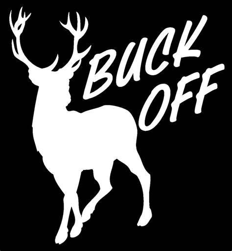 hunting truck decals deer buck off hunting fishing rack horns whitetail truck