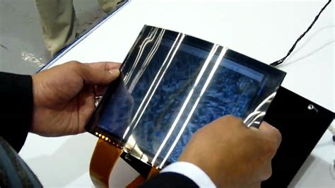 How To Make A Paper Touch Screen Phone - toshiba flexes its paper thin lcd
