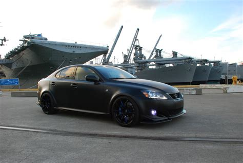 lexus rc 350 matte black tuned matte black wide body lexus is350