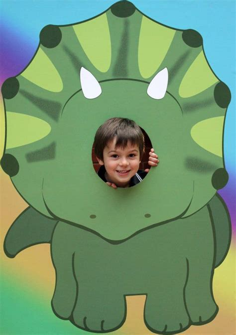 printable dinosaur photo booth props extra large dinosaur kids party photo prop by lmphotoprops