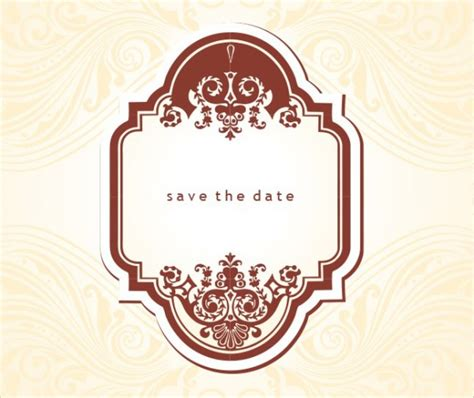 19 free save the dates psd vector download