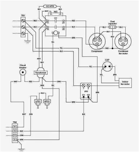 schematic diagram of hvac system wiring diagram and