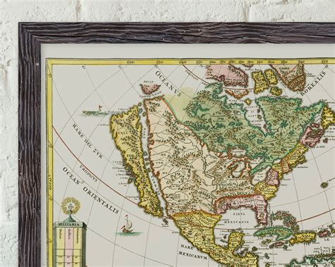early maps america borealis 1699 early map of of the usa by