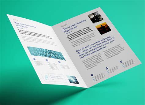 Bi Fold Brochure Paper - free bi fold a4 brochure mockup psd mockups