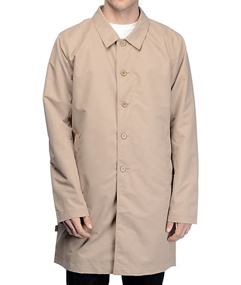 empyre khaki trench coat