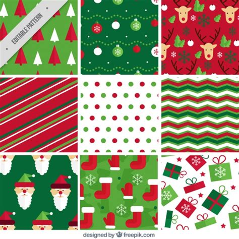 christmas patterns early years abstract patterns and christmas items vector free download