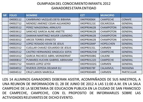 resultado de la olimpiada 2016 atp primaria ganadores de la olimpiada del conocimiento