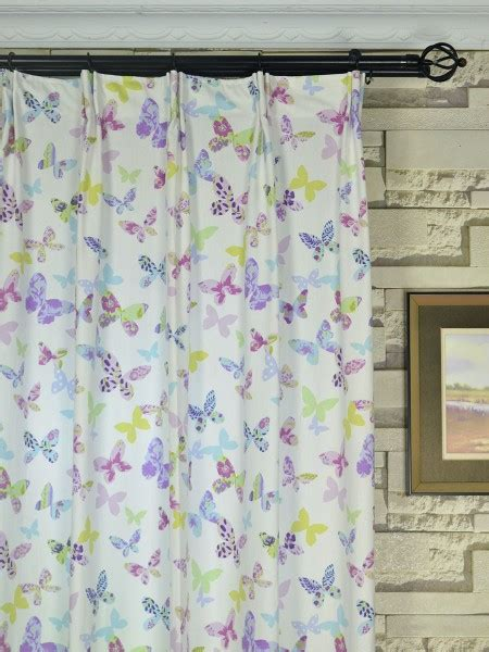 butterfly pleat curtains alamere butterflies printed versatile pleat ready made